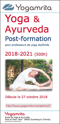 Prospectus post-formation Yoga & Ayurveda 2 pages pdf - Yogamrita